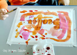water color name recognition activity