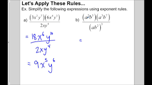 multiplying and dividing monomials youtube