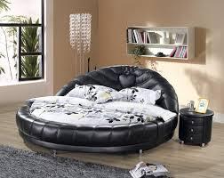 bedroom impressive contemporary round bed laminate wood flooring