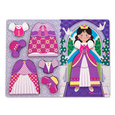 doug melissa u0026 doug princess dress up chunky puzzle 8 00 hamleys