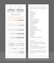 wedding invitation program wedding program right on trend with 2012 architectural type