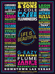 Las Vegas Downtown Map by Life Is Beautiful 2016 Insomniac