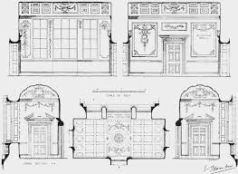 plate 76 pembroke house details of lobby on first floor