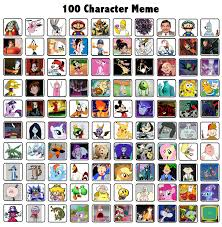 Memes Characters - 100 characters meme by nee wollah on deviantart