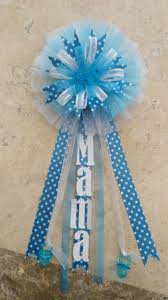 corsage de baby shower distintivo distintivos para baby shower de fanya blue colored