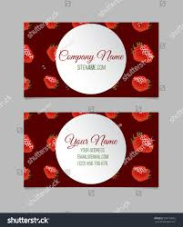 vector business card template strawberry stock vector 334754045