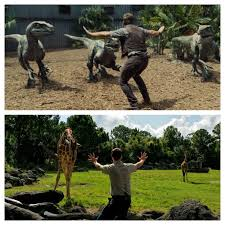 zookeepers are recreating chris pratt s moves in jurassic world
