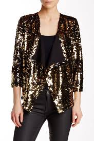 Gold Sequin Cardigan Glam Sequin Blazers For Holiday Parties And New Year U0027s Eve