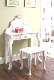 child s dressing table and chair vanity and chair set new girls children s kids princess crown frog