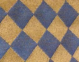 Diamond Upholstery Navy Diamond Fabric Etsy