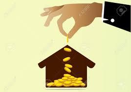 Einfamilienhaus Zu Kaufen Geld Sparen Konzept Geld Zu Sparen Um Ein Haus Zu Kaufen