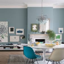 No Dining Room A Dining Room Painted In Oval Room Blue No 85 By Farrow