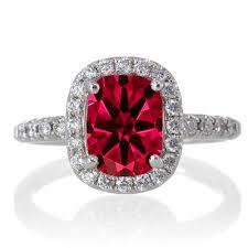 ruby diamond ring 1 5 carat cushion cut ruby antique diamond engagement ring on 10k