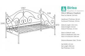 birlea milano 3ft single black metal day bed frame with trundle by