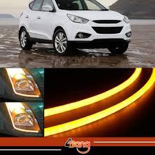 led strip lights headlights 2x 60cm drl flexible led tube tear strip style car headlight light