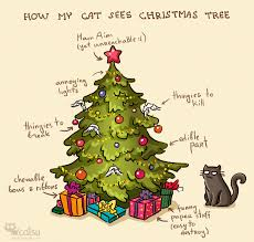 Cat Christmas Meme - christmas tree cat meme merry christmas and happy new year 2018