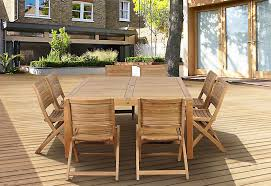 Patio Dining Set by Amazonia Cabana 9 Piece Square Teak Wood Patio Dining Set