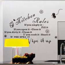 kitchen decals for walls wall stickers quotes baby kitchen rules you empty fill quotes wall decals black letters and decorative pattern stickers for decoration buy sticker