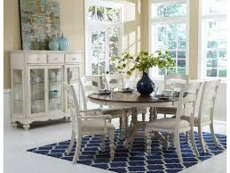 hillsdale pine island 7 piece round dining table set with ladder
