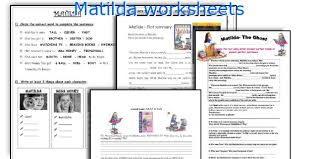 english teaching worksheets matilda
