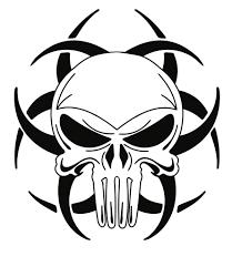tribal skull designs clip library