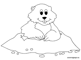 Groundhog 31 Animals Printable Coloring Pages Groundhog Color Page