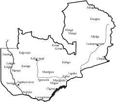 map of zambia figure map of zambia showing areas where anthrax has been reported