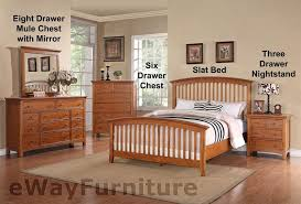 Thomasville Furniture Bedroom Sets by Ashland Shaker Style Slat Bed Bedroom Furniture Set