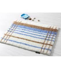 Brown And Blue Bathroom Rugs Popular Brown And Blue Stripe Bath Rug Floor Mats Da6143 1