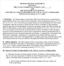 doc 400518 memorandum of understanding template u2013 memorandum of