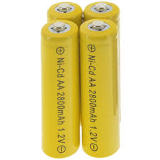 rechargeable aa batteries for solar lights 4aa 1 2v solar light rechargeable batteries nicd 2800mah yellow in