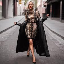 black cotton longsleeve bodycon dress bandage dress wolddress com