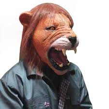 new halloween mask new halloween masks open mouth teeth lion mask latex rubber animal