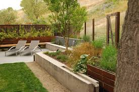 concrete fencing ideas exterior midcentury with concrete block