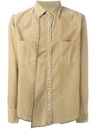 beige cotton corduroy shirt from golden goose deluxe brand men
