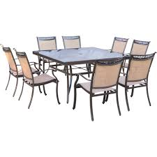 fontana 9 piece dining set with eight dining chairs and a 60 in
