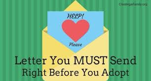 the letter you must send family friends right before you adopt