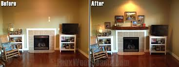 great idea replace retro fireplace living room removing mantle
