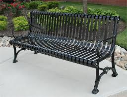 Heavy Duty Garden Bench Steel Outdoor Bench