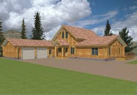 log home floor plans with garage cabin floor plans with garage home deco plans