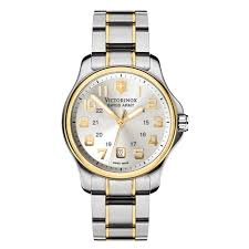 The Toasters Two Tone Army Victorinox Swiss Army Men U0027s Officer U0027s Two Tone Dial Watch Free