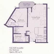 floor plans a4h 881 1 bed 1 bath