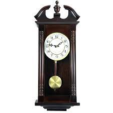 seiko wall clock wood