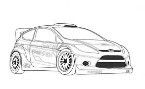 ford fiesta wcr car coloring free cars coloring