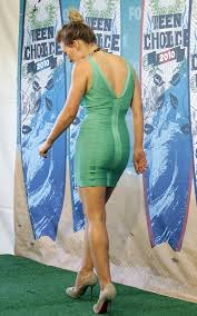 hilary duff in a green bandage dress hilary duff then and now