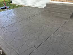 Flagstone Stamped Concrete Pictures by Freshly Stamped Flagstone Patio Blackwater Concrete