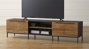 crate and barrel media cabinet rigby 80 5 large media console with base reviews crate and barrel