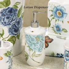 lenox blue floral garden porcelain bath accessories