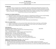 functional resume template administrative assistant 6 legal administrative assistant resume templates free