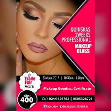 makeup schools in quinskas intensive makeup class at quinskas accra